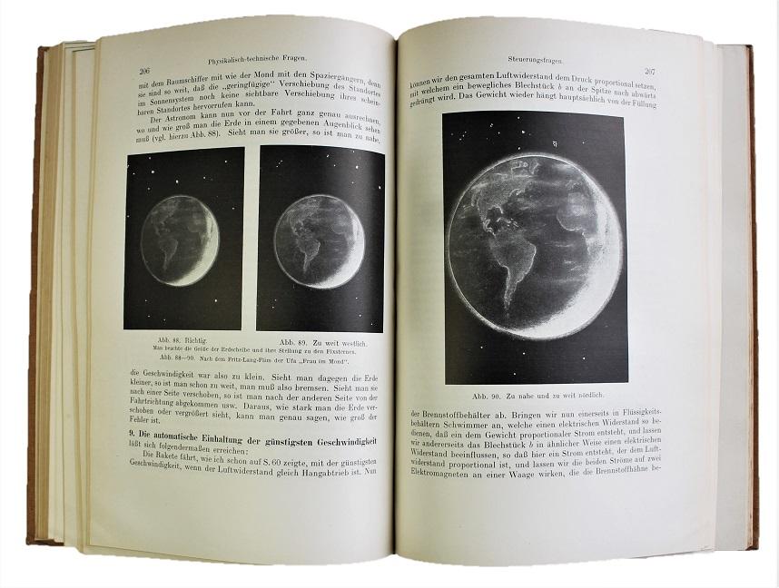 OBERTH,  H. - Wege zur Raumschiffahrt. Mit 4 gef. Tafeln und  159 Abbildungen.